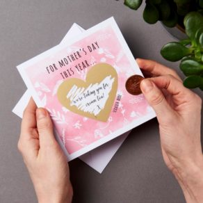 Personalised Mother's Day Heart Scratch Card