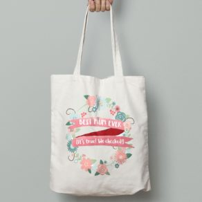 Personalised Best Mum Ever Tote Bag