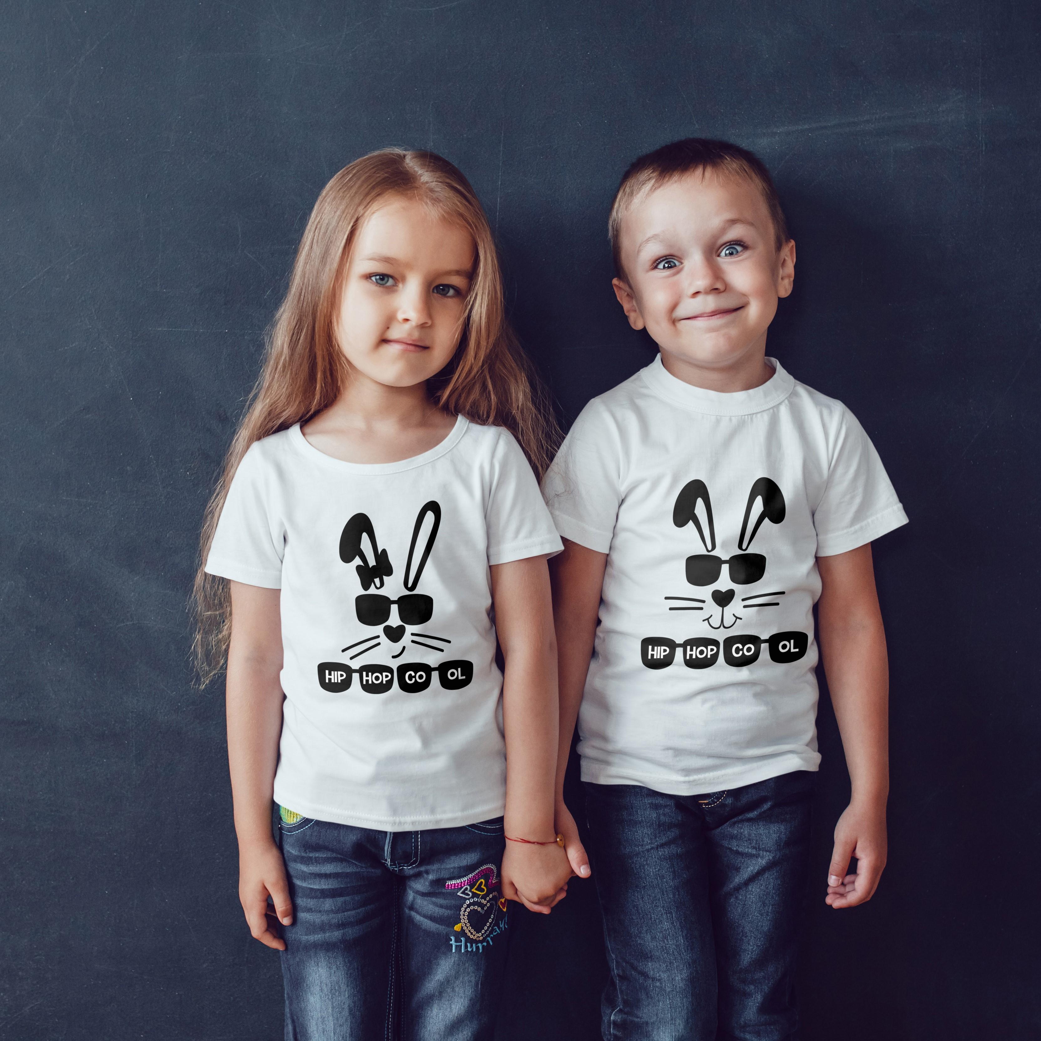 Personalised Easter Hip Hop Bunny Tshirt