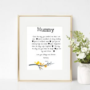 7 Favourite Things About Mum Personalised Print
