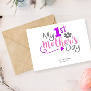 Personalised My 1st Mothers Day Card