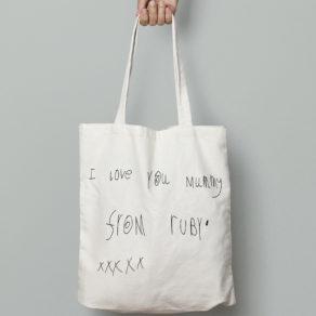 Personalised Childs Handwriting Tote Bag