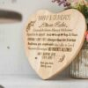 Personalised Grandparent Wooden Heart Board