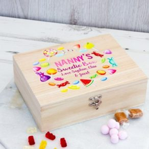 Personalised Wooden Mother's Day Sweets Box