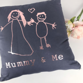 Mummy & Me Children's Drawing Cushion