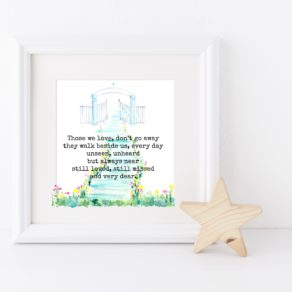 Those We Love Personalised Remembrance Box Frame
