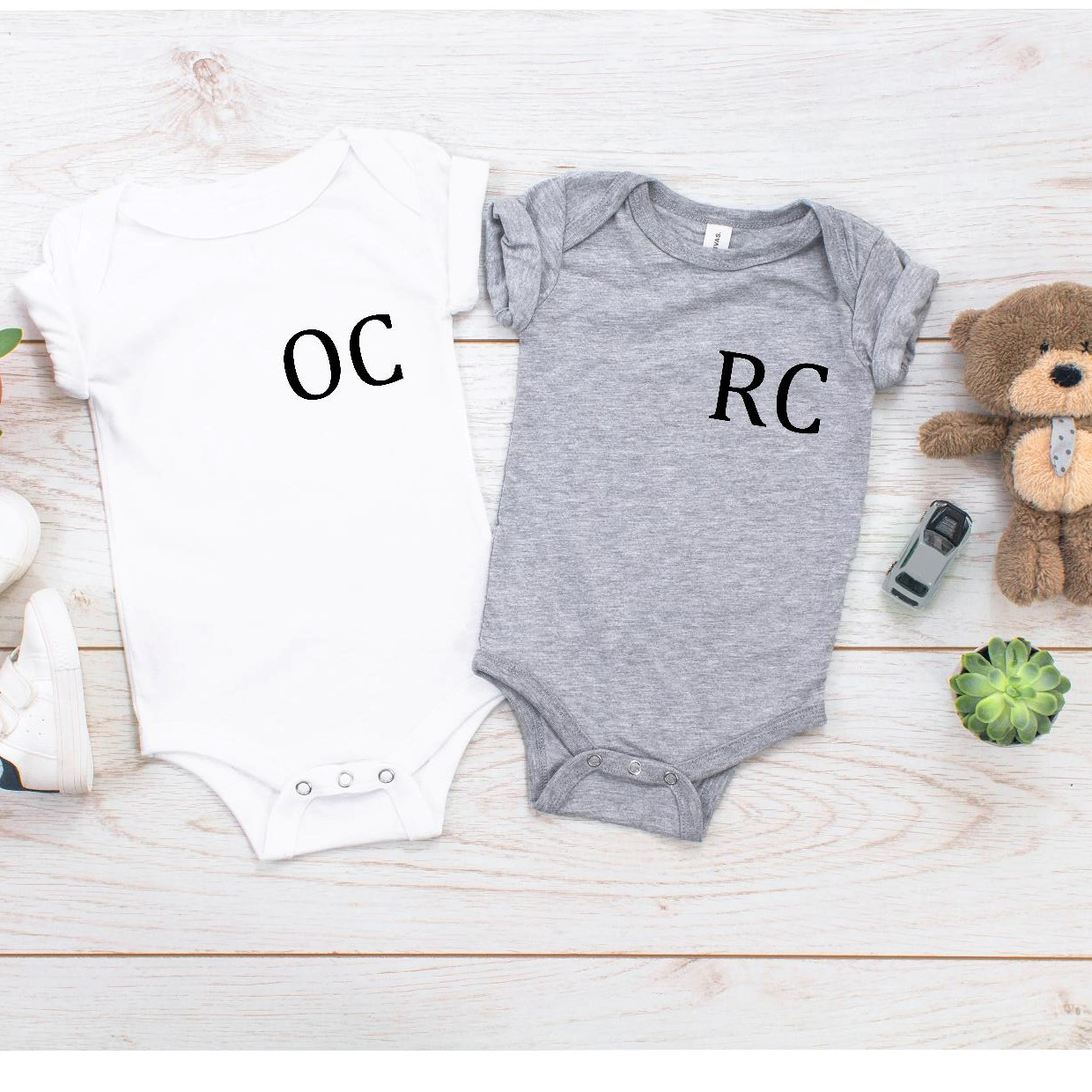 Personalised Double Initials Baby Vest