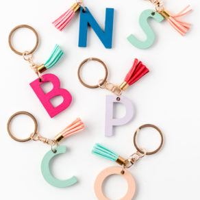 Alphabet Keyring With Tassels