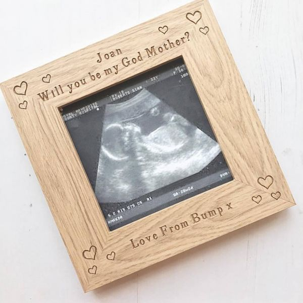 Will You Be My Godparent Personalised Scan Frame