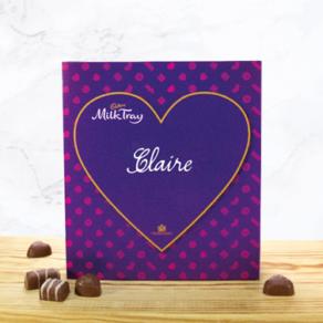Personalised 360g Box of Cadbury Milk Tray Chocolates