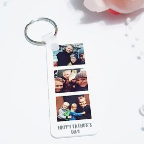 Personalised Fathers Day Photo Keyring