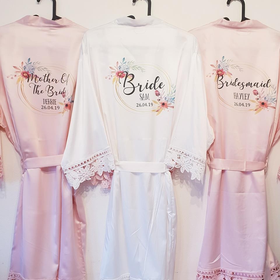 Personalised Floral Design Bridesmaid Robe