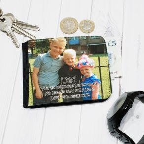 Personalised Fathers Day Photo Wallet