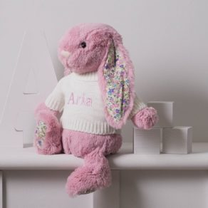 Pink Blossom Bunny Personalised Soft Toy