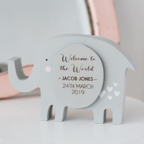 Personalised Elephant Money Box