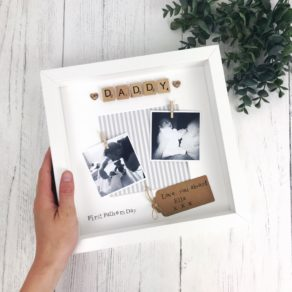 First Fathers Day Personalised Box Photo Frame