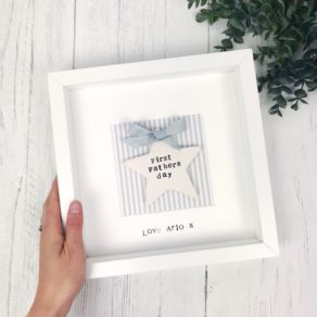 First Fathers Personalised Star Frame