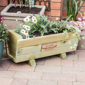 Personalised Garden Flower Planter Trug