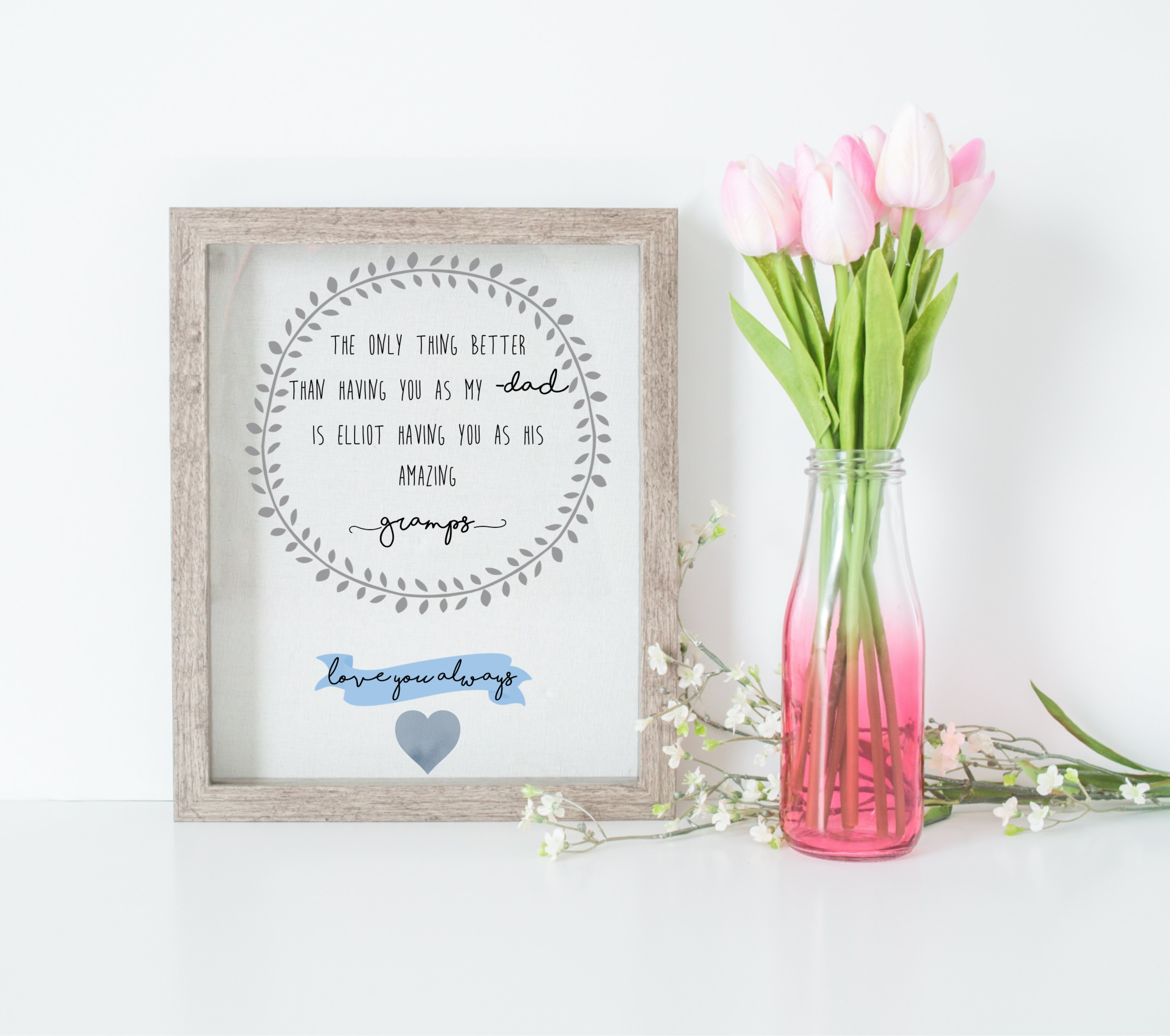 6de505a3d Personalised Only Thing Better Print Father's Day Print | Love ...