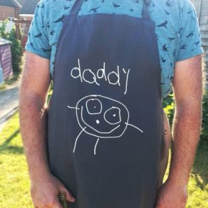 Personalised Daddy Child's Drawing BBQ Apron