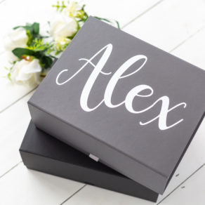 Grey Personalised Groomsmen Box