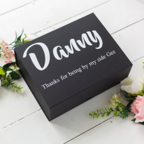 Black Personalised Groomsmen Box