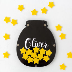 Personalised Black Children's Reward Jar