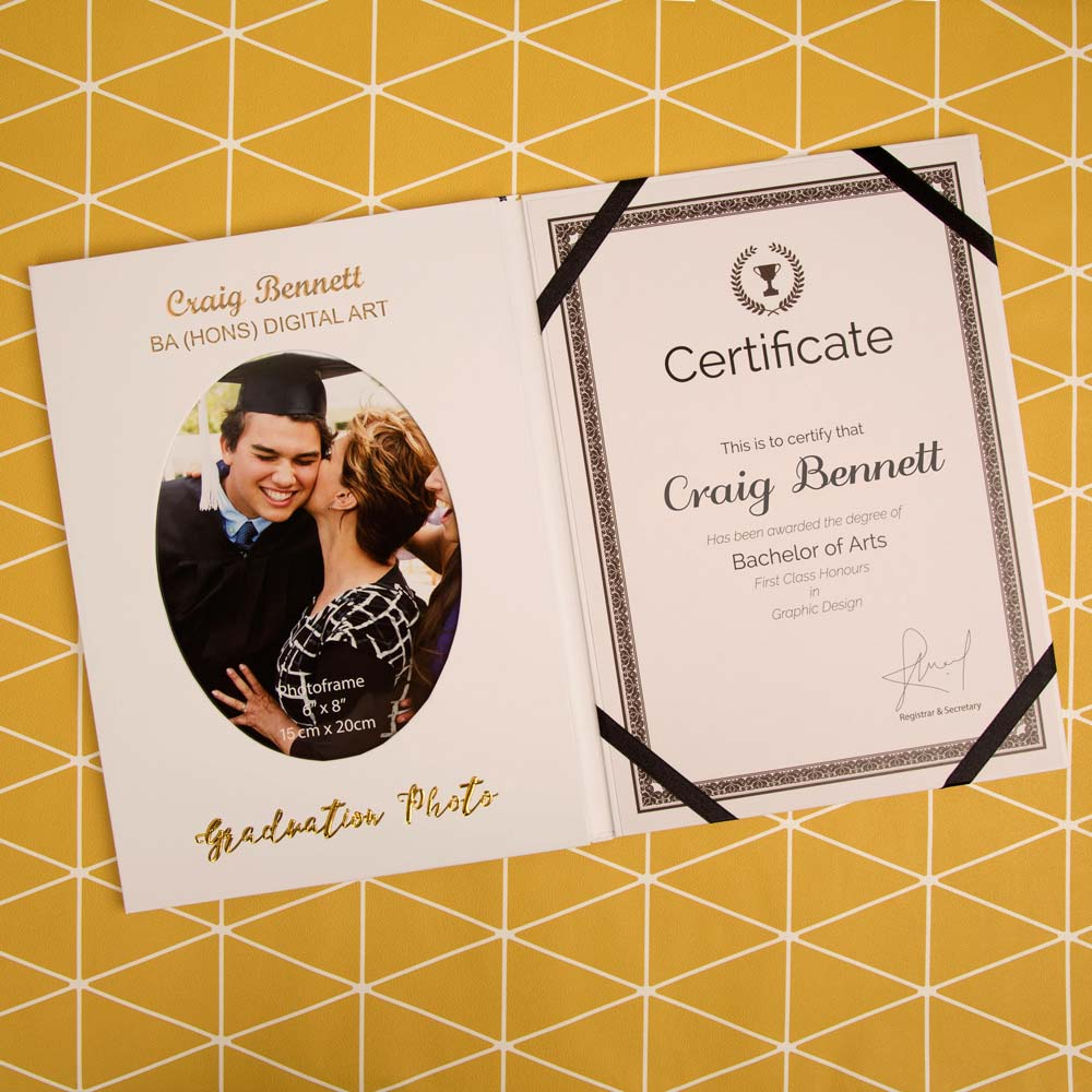 Personalised Graduation Certificate & Photo Holder