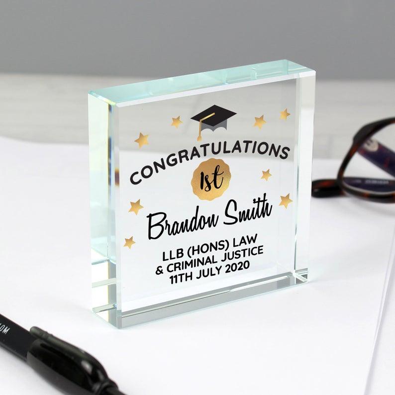 Personalised Congratulations Graduation Crystal Token