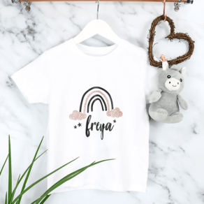 Personalised Baby and Kids Rainbow T-Shirt