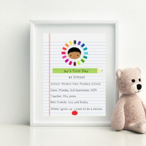 First Day at School Personalised Print