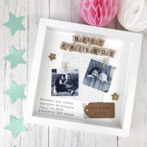 Brother and Sister Scrabble Frame