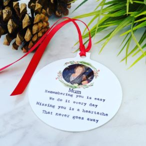 Personalised Remembrance Christmas Bauble