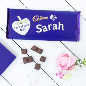 Personalised Valentine Giant Cadbury Dairy Milk Bar