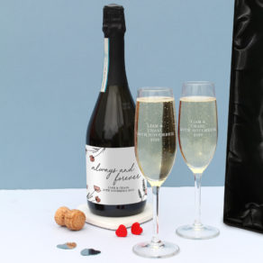 Always & Forever Prosecco Set in Silk Lined Box