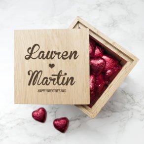 Personalised Couples Name Photo Cube with Chocolates