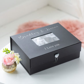 Personalised Valentines Photo Memory Box