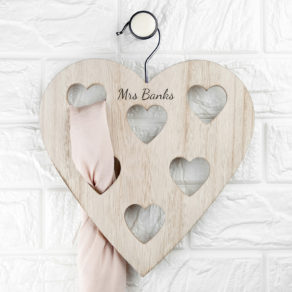 Personalised Wooden Heart Scarf Holder