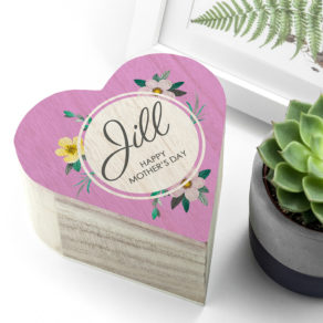 Personalised Mothers Day Wooden Trinket Box