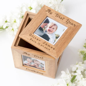 Personalised Wooden Photo Box