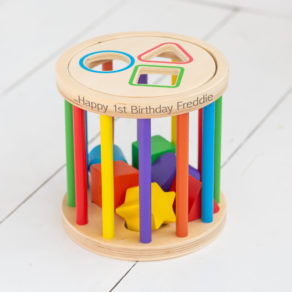 Personalised Kids Wooden Colours & Shapes Skill Toy