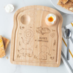 Personalised Wooden Safari Breakfast Egg Board