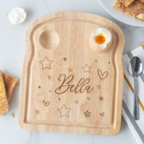 Personalised Kids Wooden Breakfast Egg Board