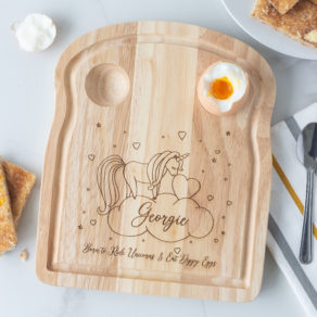 Personalised Wooden Unicorn Breakfast Board