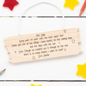 Personalised Teachers Hanging Plaque