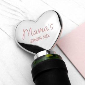 Personalised Mama Survival Juice Bottle Stopper