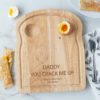 Personalised Wooden Fathers Day You Crack Me Up Egg Board