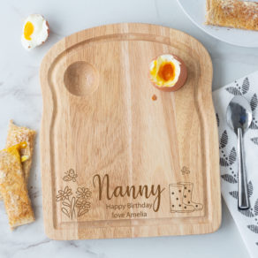 Personalised Wooden Gardening Breakfast Egg Board - Flowers