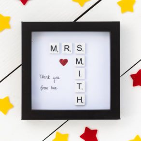Personalised Teachers Scrabble Tile Frame