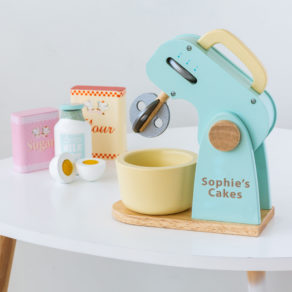 Personalised Kids Wooden Toy Mixer Set